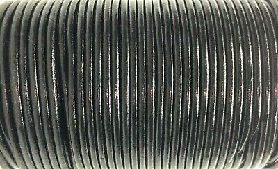 2.5mm Black Leather Cord Lace 100m Jewellery Making Cord