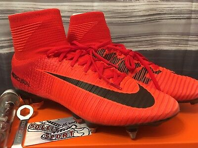 watch fde95 a340b New Nike Mercurial Superfly V DF SG ACC Elite 6 VI Soccer Cleats Fire Red  Mens