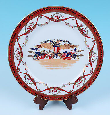 Rare Woodmere Chinese Export THAYER EAGLE China Plate American Independence Day