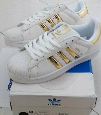 huge discount 939bd ee3a8 Adidas Superstar Uomo Donna White Gold AQ2871