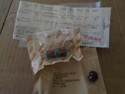 1 Ea Nos Dialight Panel Indicator Light W/ Red Lens  P/N: Lh75Lc14Rd