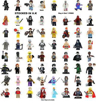 Horror Film Movie Minifigure Hellboy IT Chucky Predator Lego &Custom Mini Figure