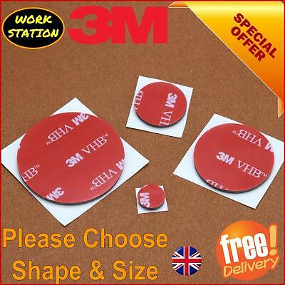 3M Double Sided Sticky Pads Self Adhesive Foam Chairs table Floor 2mm Thick