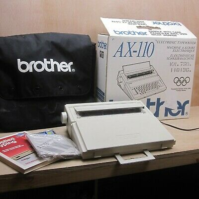 Brother AX110 Electric Electronic Typewriter Word Processor Working Boxed Case