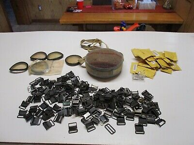 Junk Drawer Lot Canteen, Military Buckles, Saftey Pins