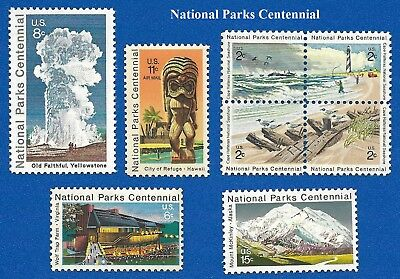 US 1448 -51 -1452 -1453 -1454 -C84 National Parks Centennial Mint Never Hinged