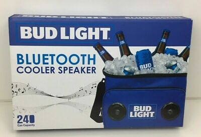 BUD LIGHT BLUETOOTH Cooler With Built in Speakers- Holds 24 Cans
