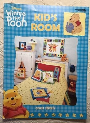 Disney Winnie the Pooh Kids Room Cross Stitch Pattern 13 Designs Tigger OOP