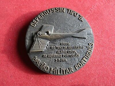 Large Bronze Medal Deperdussin B 1st Portuguese Military aircraft