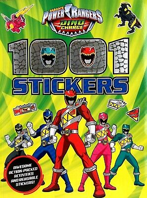 Saban's Power Rangers, Dino Charge, 1001 Stickers Colouring Puzzles Activity New
