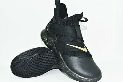 size 40 5e7be a28ec NEW NIKE ID LeBron Soldier XII Size 8 Black/Gum-Metallic Gold Mens AR6333  991