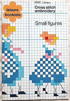 DMC Cross Stitch Small Figures Embroidery Patterns Book - 1977