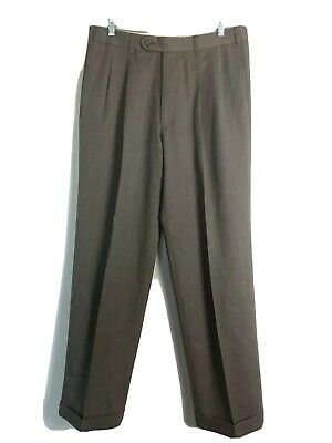 finest selection reputable site first rate BROOKS BROTHERS 346 Wool Pleat Cuff Dress Pants Slacks 34 x ...