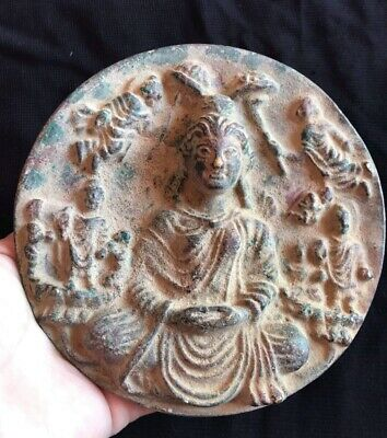 Excellent Antique Qulity Ghandhra Buddha Statue Bronze Plate