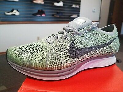 603607043ced6 Brand New Nike Flyknit Racer MACAROON PACK COOL GREY GHOST GREEN 526628-103