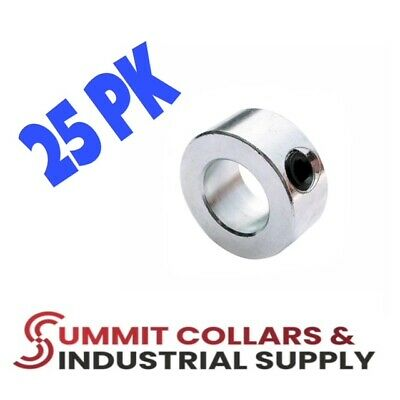 "1-1/8"" bore (25 PCS) set shaft collar, zinc plated FREE standard shipping!"