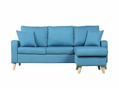 Amazing Sky Blue Small Space Furniture Sectional Sofa Couch W Dailytribune Chair Design For Home Dailytribuneorg
