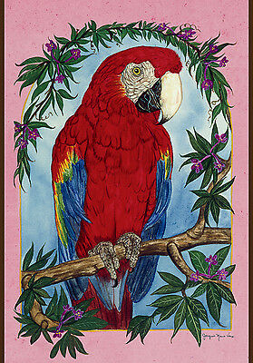 New Large Toland Flag Beautiful Parrot Perch 28 X 40 Gorgeous Flag!