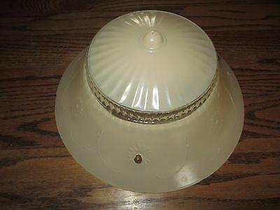 Vintage Art Deco 30's 40's Antique GLASS CEILING LIGHT SHADE #333