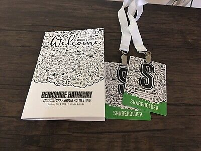 2019 Berkshire Hathaway Inc. Annual Shareholder Meeting Tickets 2019 X 2 Tickets