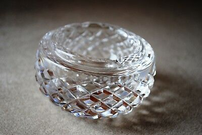 """Vintage Alana Waterford Crystal 3 3/8"""" ashtray signed Old Mark"""