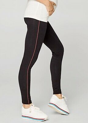 Esprit - Sporty Piped Maternity Pregnancy Activewear Leggings in Black