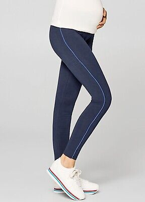 Esprit - Sporty Piped Maternity Pregnant Activewear Leggings in Night Blue