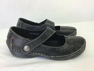 "Sanita Mary Jane""womens Black Leather Upper Size 39 Men's Clothing"