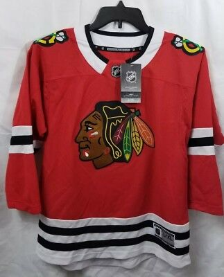 cc3ce07aa CHICAGO BLACKHAWKS NHL Premier Home Sewn Hockey Jersey Size Youth L ...