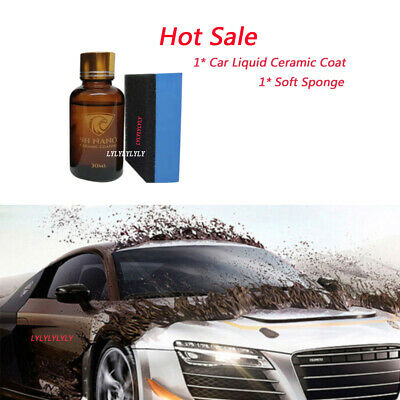 9H Car Glass Liquid Nano Ceramic Coat [NANO Dual-core Titanium Gold 98% 30ml] UK