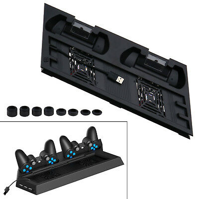 Cooling Fan Vertical Stand Station Controller Charger for Playstation 4 PS4