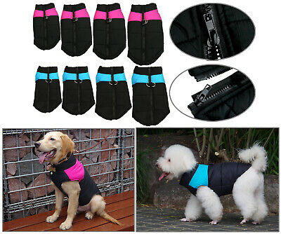 Pet Dog Coat Waterproof Jacket Raincoat Suit Small Large Reflective Medium