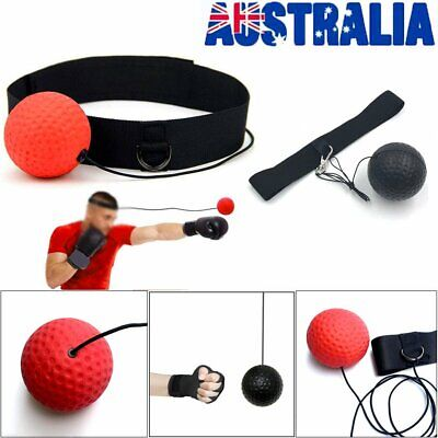 Fight Ball Head Band Boxing Training Reflex Speed Reaction Trainer Punch Gear BO