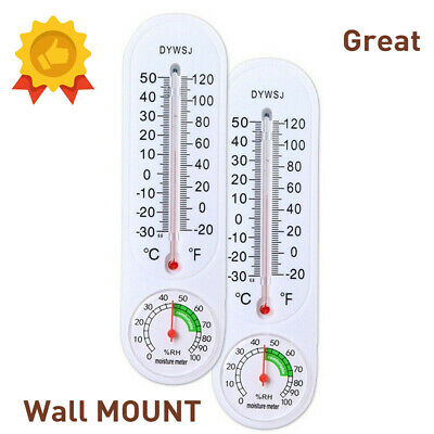 Wall Hung Thermometer Hygrometer Temperature for Indoor Outdoor Garden Office