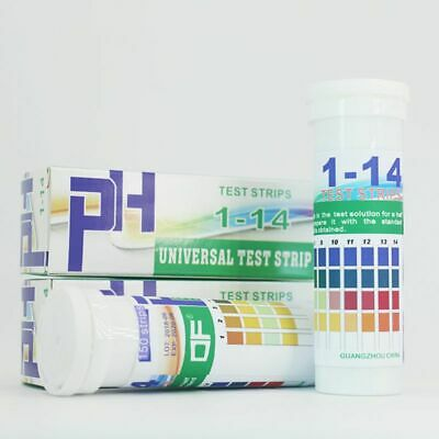 150 Strips Bottled PH 1-14 Test Strip Urine Saliva pH Acidic Alkaline Indicator