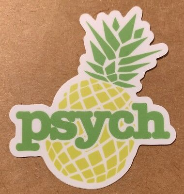 Psych Pineapple Sticker For Skateboard Car Laptop Luggage Decal 3""