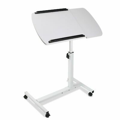 Portable Laptop Desk Stand Adjustable Notebook Computer PC Table Tray Bed White