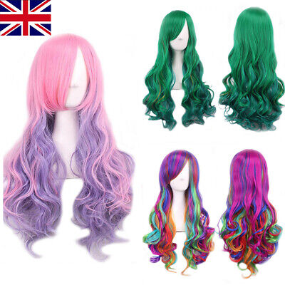 Women Long Hair Full Wig Ladies Curly Wavy Hair Wigs Party Costume Cosplay△
