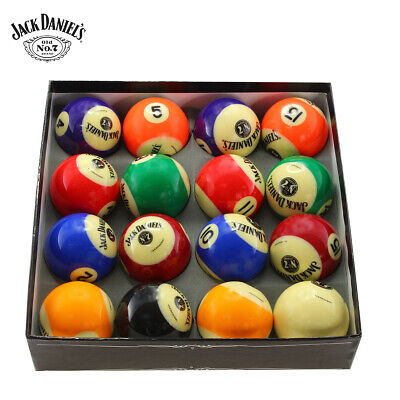 JACK DANIELS Official Licensed Merchandise Pool / Snooker Ball Set - 16 pcs