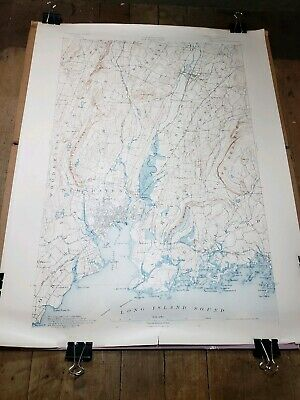 1897 New Haven Connecticut CT Map U.S. Geological Survey