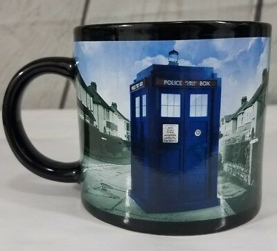 BBC Dr Doctor Who Mug DISAPPEARING TARDIS Coffee Tea Cup Great Used Condition...