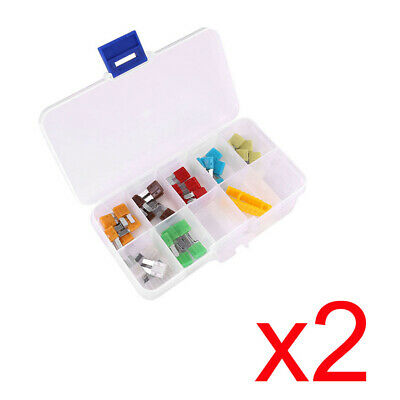 2x For Ford Dodge Fuses Auto Car Micro II 2 Blade Fuse Kit Assortment 70pcs
