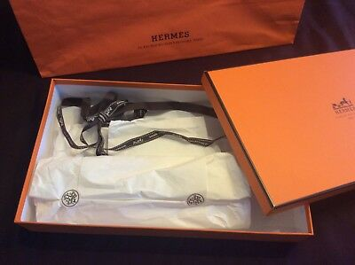 Hermes empty box with shopping bag, paper, ribbon