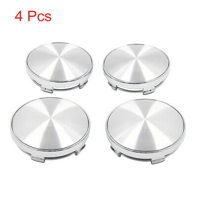 4 Pcs Silver Tone 60mm Dia 5 Clips Wheel Tyre Center Hub Caps Covers for Cars