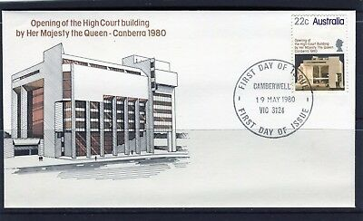1980 Australia Opening Of High Court Building First Day Cover, Mint Condition