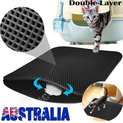 2019 Waterproof Double-Layer Cat Litter Mat Trapper Foldable Pad Pet Rug 3 Sizes