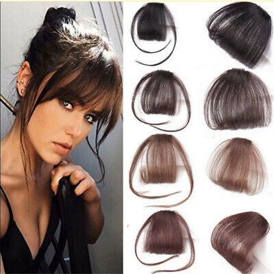 Synthetic Hair Clip On Fake Bangs Fringe High Quality Lifelike Invisible Natural