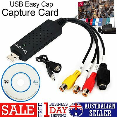 Easycap USB 2.0 Capture Video TV DVD VHS Audio Capture Adapter Card TV Video DVR