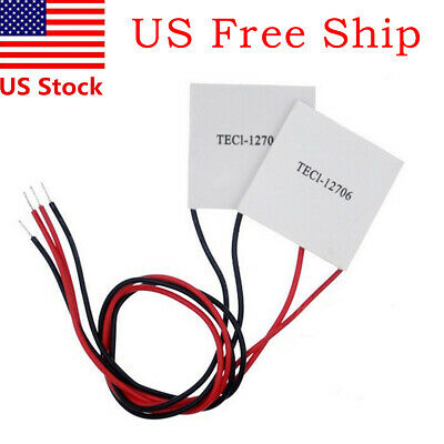 2x 12V 60W Thermoelectric Cooler TEC Peltier Module with Heatsink Kit TEC1-12706