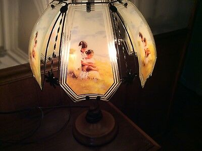 Ok Lighting Native American Indian Touch Lamp Mother And
